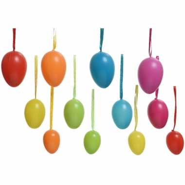 36x paasversiering/paasdecoratie gekleurde eieren