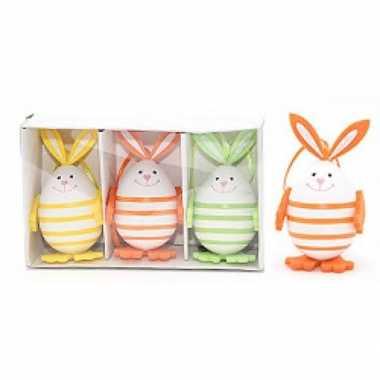 3x paastak haasjes/konijnen 9,5 cm