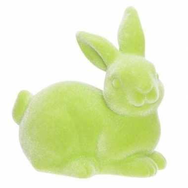 Paashaasjes/konijntjes figuurtjes groen 9 cm
