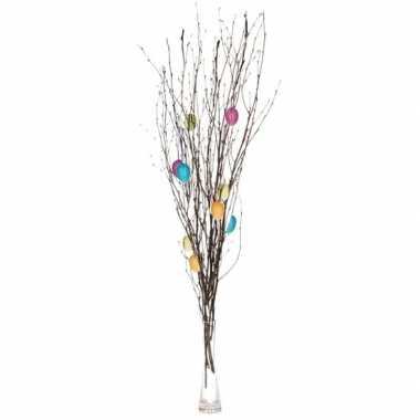 Pasen decoratie takken 75 cm met gekleurde versiering 10105126